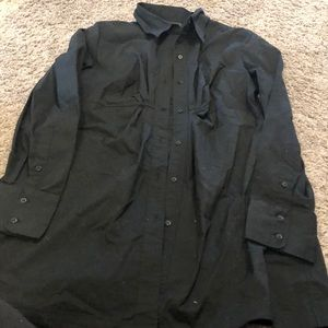 New York and company long button up